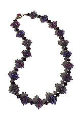 Purple Lentil Necklace by Kathy King (Beaded Necklace)