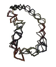Abstract Rainbow Necklace by Kathy King (Beaded Necklaces)