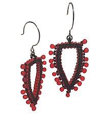 Dagger Earrings by Kathy King (Beaded Earrings)
