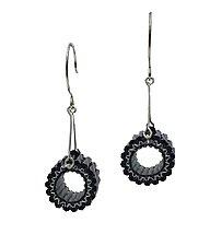 Circular Earrings by Kathy King (Beaded Earrings)