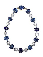 Blue Waves Necklace by Kathy King (Beaded Necklace)