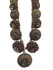 Vintage Dangles Necklace by Kathy King (Beaded Necklace)