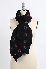 Ekata Dot Scarf by Janice Kissinger  (Silk & Wool Scarf)