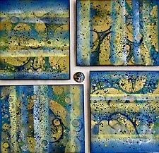 Joyful Whirligig by Cynthia Miller (Art Glass Wall Sculpture)