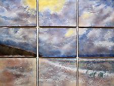 Beach II by Cynthia Miller (Art Glass Wall Sculpture)
