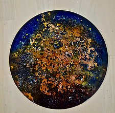 Mysterious Sky by Cynthia Miller (Art Glass Wall Sculpture)