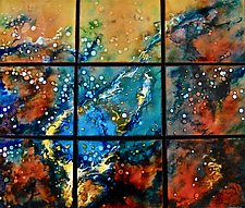 Molten Ocean by Cynthia Miller (Art Glass Wall Sculpture)