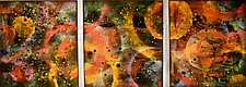 Autumn Champagne by Cynthia Miller (Art Glass Wall Sculpture)