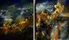 Blue Duet by Cynthia Miller (Art Glass Wall Sculpture)