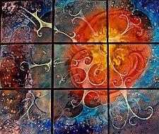 Summer Sky and Sun by Cynthia Miller (Art Glass Sculpture)