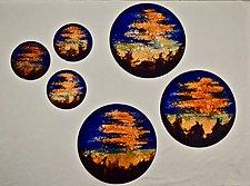 Sunset Disks by Cynthia Miller (Art Glass Wall Sculpture)