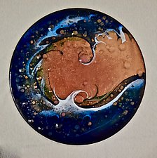 Wave Disk 1 by Cynthia Miller (Art Glass Wall Sculpture)