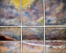 Beach Sextet by Cynthia Miller (Art Glass Wall Sculpture)