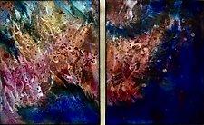 Sparkling Duet by Cynthia Miller (Art Glass Wall Sculpture)