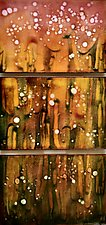 Firefly Trio by Cynthia Miller (Art Glass Wall Sculpture)