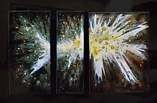 Spring Blast Trio! by Cynthia Miller (Art Glass Wall Sculpture)