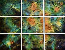 Spring! in Nine Panels by Cynthia Miller (Art Glass Wall Sculpture)
