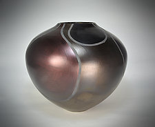Blackware/Mica-Infused Sigillatas with Tape Design by Tom Neugebauer (Ceramic Vessel)