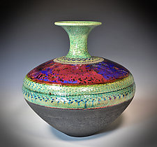 Deep Oceans by Tom Neugebauer (Ceramic Vessel)