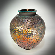 Golden Desert Sunset by Tom Neugebauer (Ceramic Vessel)