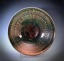 Copper Rain Raku Bowl by Tom Neugebauer (Ceramic Bowls)