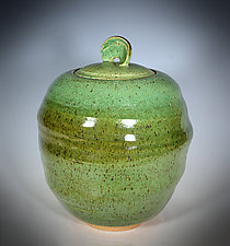 Twist Covered Jar by Tom Neugebauer (Ceramic Cookie Jar)