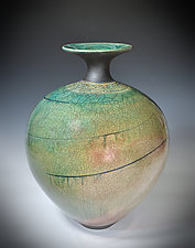 Turquoise Spiral by Tom Neugebauer (Ceramic Vessel)