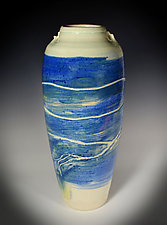 Unwound Porcelain Vase by Tom Neugebauer (Ceramic Vase)