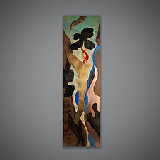 Wall Panel by Aaron Laux (Wood Wall Sculpture)