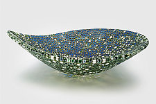 Nido 22 Forest Floor and Lapis Lazuli Bowl by Joseph Enszo (Art Glass Bowl)