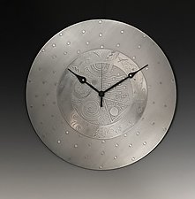 Coffee Time Clock by Evy Rogers (Metal Clock)