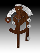 Major Time Centerpiece Clock by Evy Rogers and Joe  Jacob (Wood & Metal Clock)