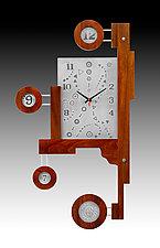 J.R. Folly by Evy Rogers and Joe  Jacob (Wood & Metal Clock)