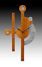 Stopwatch Centerpiece Wall Clock by Evy Rogers (Wood Clock)