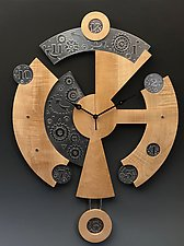 Nite and Day Centerpiece Clock by Evy Rogers and Joe  Jacob (Wood & Metal Clock)