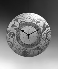 Now and Then Metal Clock by Evy Rogers (Metal Clock)