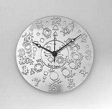 Geometric Rhythm by Evy Rogers (Metal Clock)
