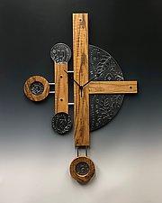 Trailblazer Centerpiece Clock by Evy Rogers and Joe  Jacob (Wood & Metal Clock)