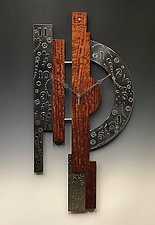Timeless Centerpiece Clock by Evy Rogers and Joe  Jacob (Wood & Metal Clock)