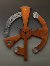 Geared Up Centerpiece Clock by Evy Rogers and Joe  Jacob (Wood & Metal Clock)