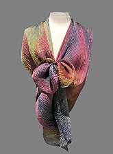 Silk Shibori Shawl by Min Chiu  and Sharon Wang (Silk Shawl)