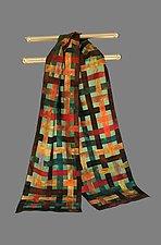Silk Woven Scarf by Min Chiu  and Sharon Wang (Silk Scarf)