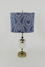 Lovely 1 by Mollie Woods (Mixed-Media Table Lamp)