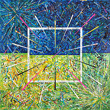 Spring Equinox by Betty Green (Mixed-Media Painting)