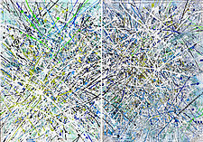 White Light Diptych by Betty Green (Mixed-Media Painting)