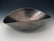 Palladium Elliptical Bowl by Jean Elton (Ceramic Bowl)