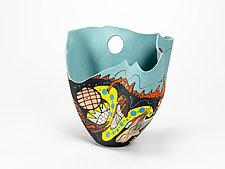 Primordial Prisms by Jean Elton (Ceramic Vase)
