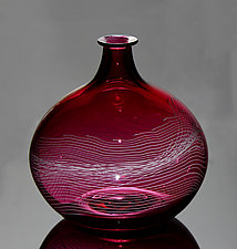 Ruby Parabola by James Friedberg (Art Glass Vase)