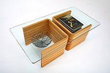 Floating in Space by Carol Jackson (Wood Coffee Table)