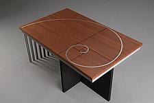 Phi by Carol Jackson (Wood & Metal Coffee Table)